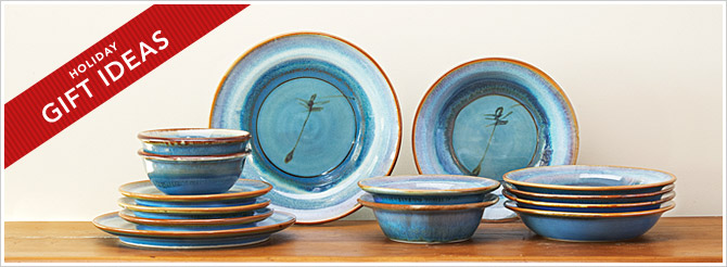 pottery, dinnerware, gift ideas, Christmas, placesetting