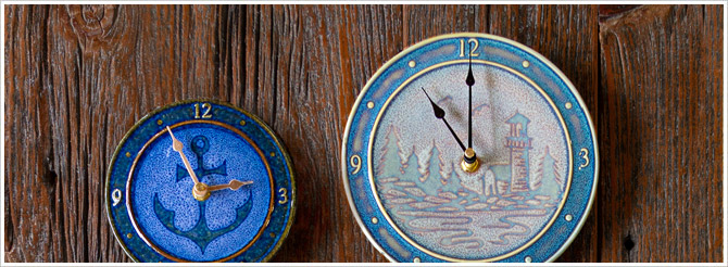 tide, clocks, small pottery, large