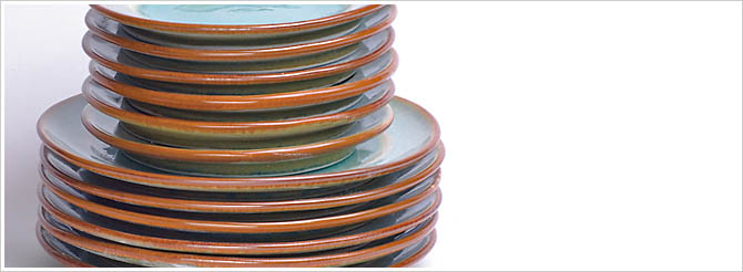 pottery, dishes, plates, serving, dinner, dessert, table