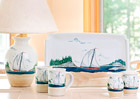 Sailboat Pattern Pottery
