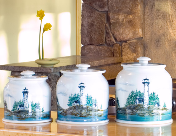 Georgetown Pottery Canister Set Of Three