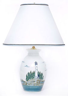 Georgetown pottery 10 inch round table lamp for 10 inch table lamps