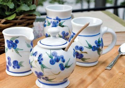 Reminiscent of warm July days of berry picking our blueberry pattern is neither too cute or too country. This design will compliment any decor ... & Georgetown Pottery: Straight Canister Set